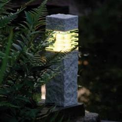 Gartenleuchte LED Steinoptik
